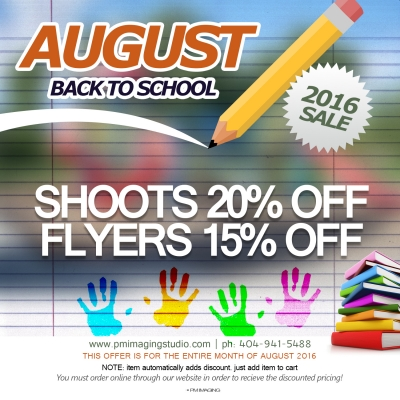 August Back to School Sale